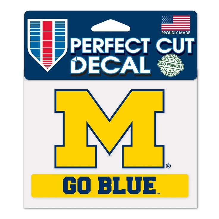 Michigan Wolverines 4.5×5.75 Perfect Cut Color Decal