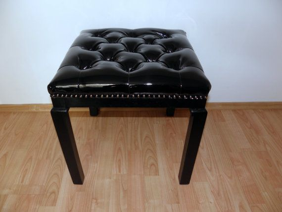 Black lacquer tabouret '60s by updatechair on Etsy, €150.00