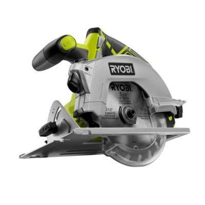 Ryobi 18-Volt One+ 5-1/2 in. Cordless Circular Saw with Laser (Tool-Only)-P506 at The Home Depot