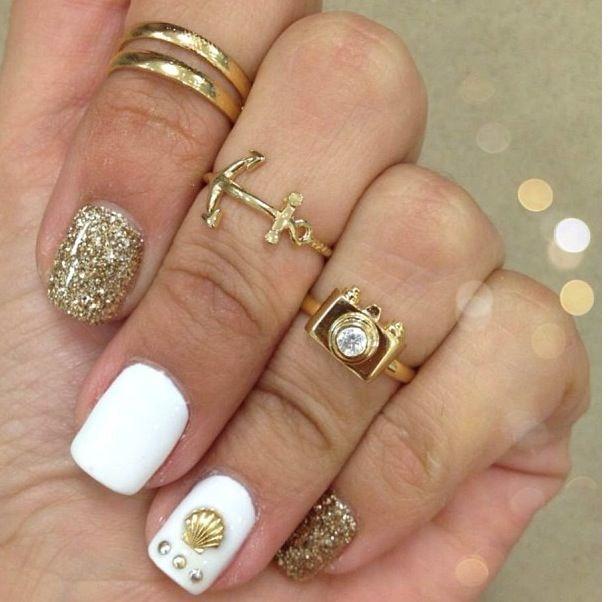 Fashion nail and rings