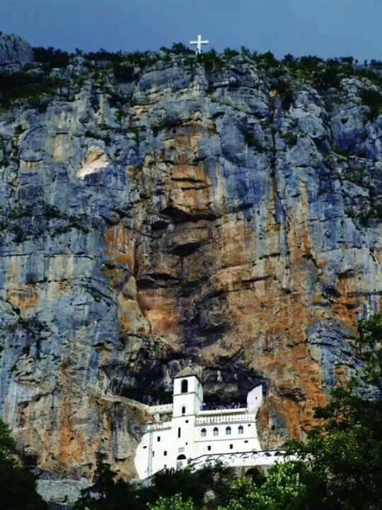 """My stomach bottomed out as soon as we began to climb onto the road that led up to the Ostroška Greda, the sheer slab of rock into which the monastery had been carved."""