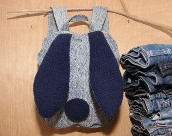 Conejo morral, morral de conejo, piedra lavado jeans mochila, mochila para niño niños pantalones vaqueros, jeans lavado ácido, bolso de mezclilla, mochila para niños