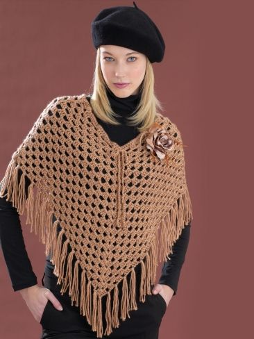 Cool Poncho | Yarn | Knitting Patterns | Crochet Patterns | Yarnspirations