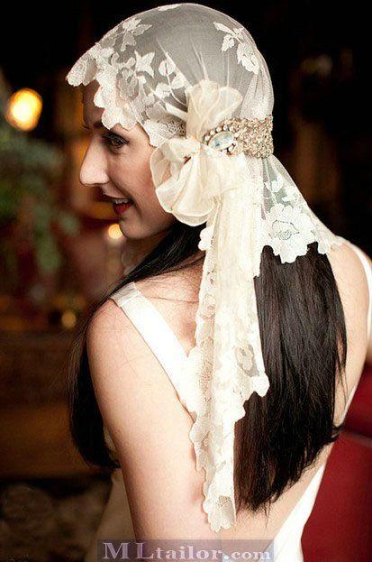 Aparte sluier in jaren 20 stijl #bruiloft #wedspiration #20's