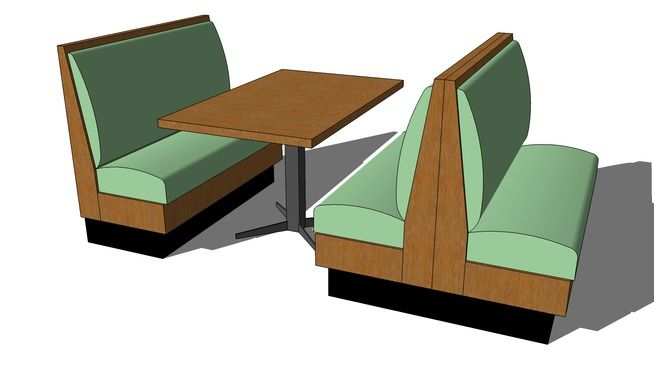 Restaurant Booth Seating  3D Warehouse  dining and bar