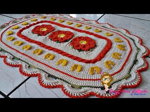 Passo a Passo Tapete Anita com mini coração - Pink Artes Croche by Rosana Recchia - YouTube