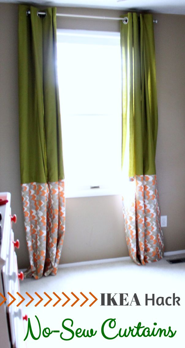 Super simple and beautiful no-sew curtains!   Just a Girl and Her Blog