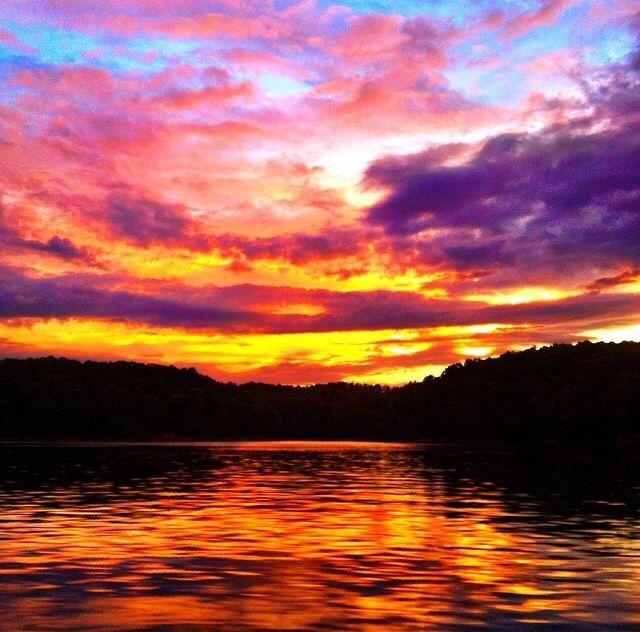 Lake Allatoona sunset. | #Breathtaking #Views | Pinterest | Lakes, Red top mountain and Mountain ...