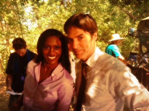 Criminal Minds Photos: Guest Star! on CBS.com  ~~ Thomas Gibson and guest star Jonell Kennedy