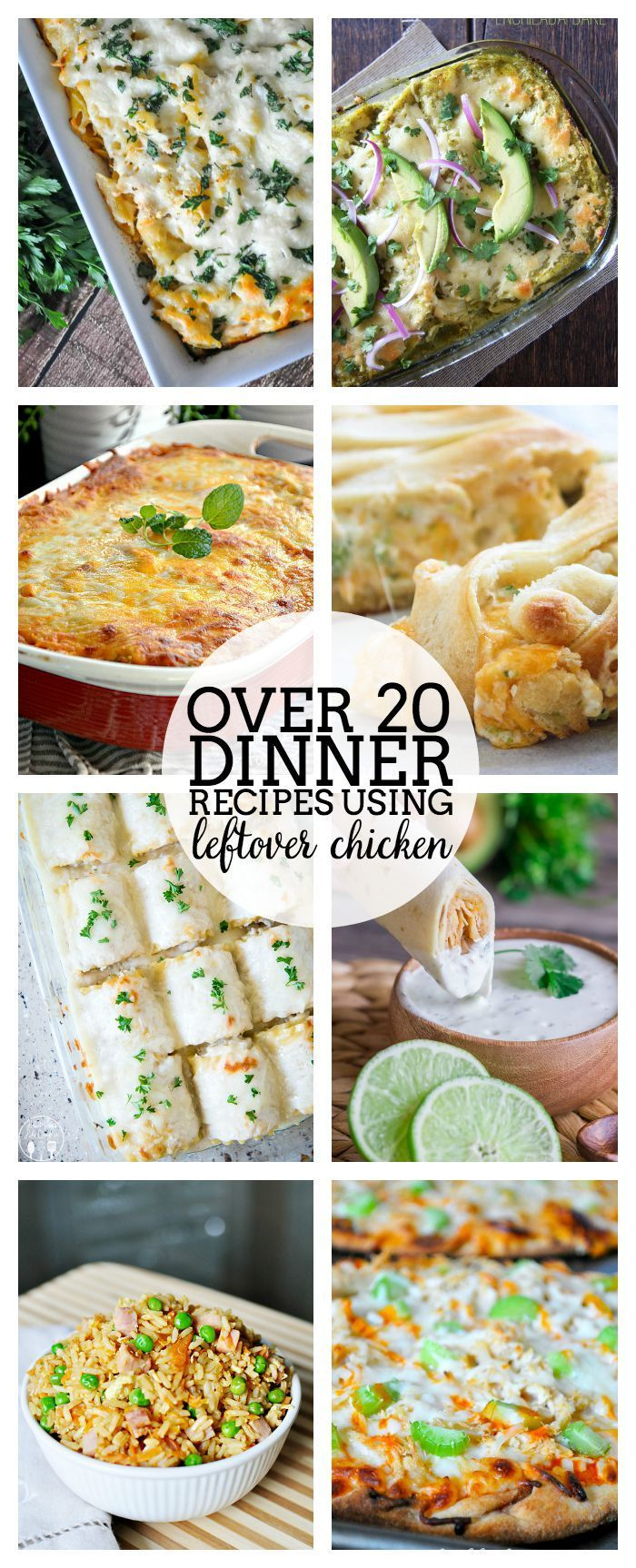 Make good use of your grocery budget and your time with these Leftover Chicken Recipes that are perfect for weeknight dinners! | The Love Nerds