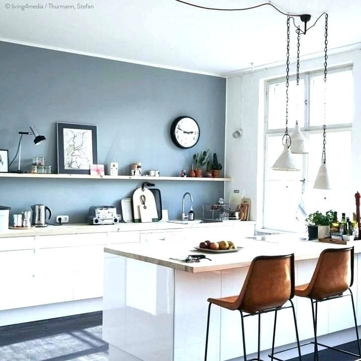 Http Yanwen Info Wp Content Uploads 2019 06 Kitchen Wall Paint Colors Ideas To Walls Colour For El In 2020 Blue Kitchen Walls Grey Blue Kitchen Kitchen Remodel Small