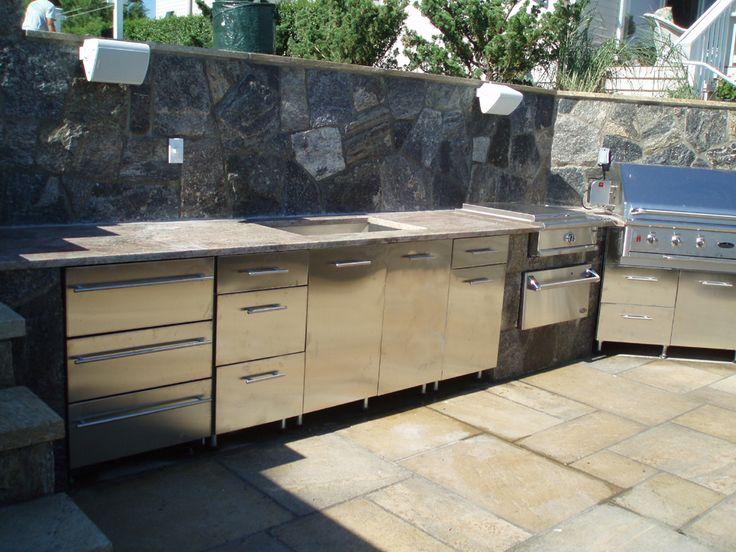 232 best Outside Kitchen Ideas images on Pinterest Outdoor - outside kitchen ideas