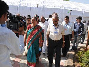 Anandiben Patel image at Rai University Ahmedabad Gujarat