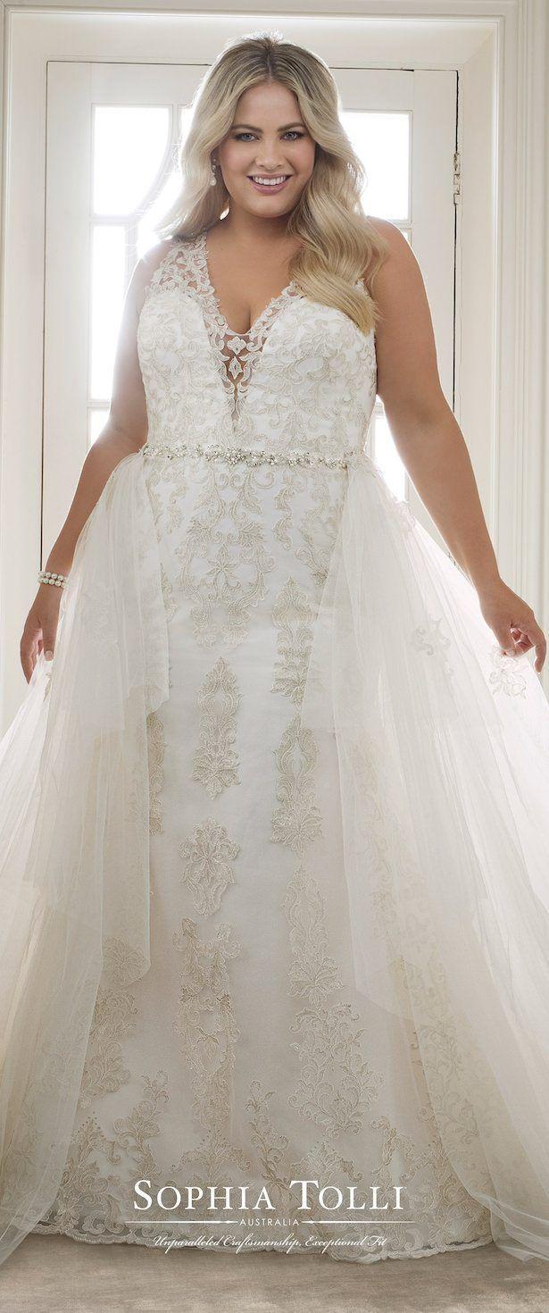 Flattering wedding dresses for plus size  Plus Size Wedding Dress by Sophia Tolli weddingdress  Simple but