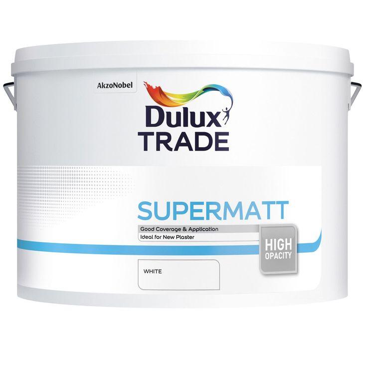 Dulux Trade White Supermatt Emulsion Paint 10L | Departments | DIY at B&Q
