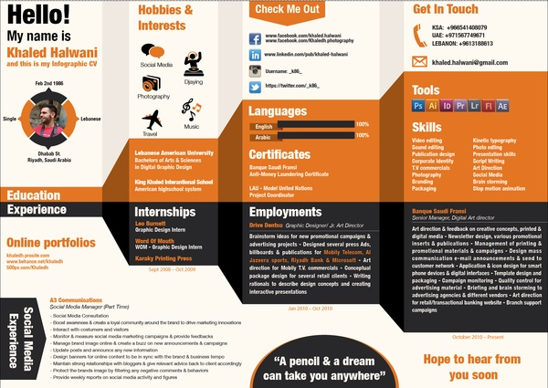 my cv by khaled halwani  via behance  super creative