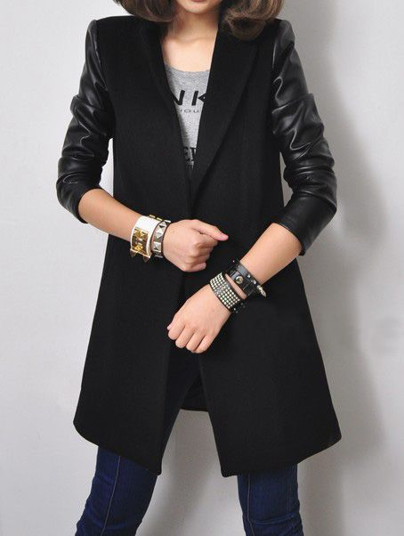8 best Leather sleeves coat images on Pinterest