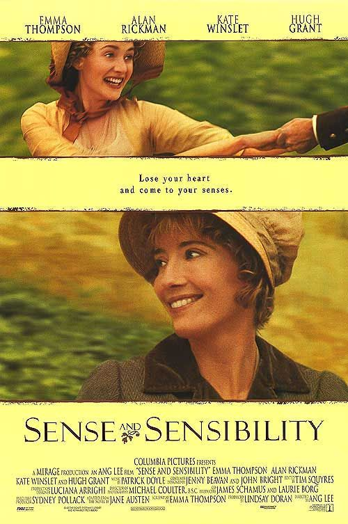 'Sense and Sensibility', 1995 - Emma Thompson starred in, and adapted Jane Austen's, romantic novel into a well crafted screenplay. She plays Elinor, the oldest Dashwood daughter, who falls in love with wealthy Edward Ferrars (Hugh Grant), who is betrothed. Marianne Dashwood (Kate Winslet) see's John Willoughby & it's love at first sight. This is the penultimate Jane Austen drama. Kate Winslet is exquisite as the jilted Marianne & Alan Rickman's devotion & tenderness to Marianne is so…