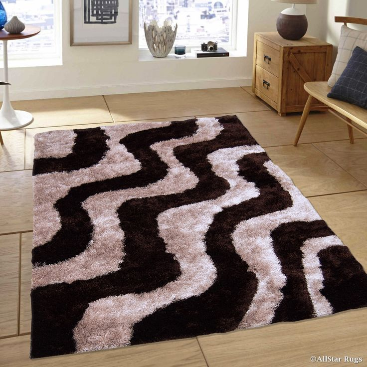 AllStar Rugs Chocolate Geometric Thick Area Rug