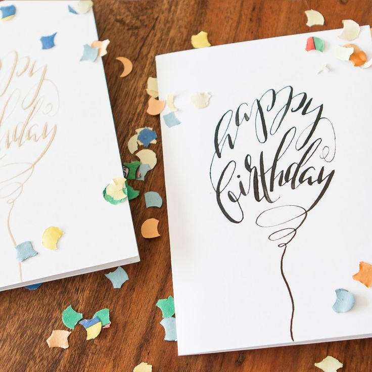 17 Best Images About Birthday Cards Calligraphy
