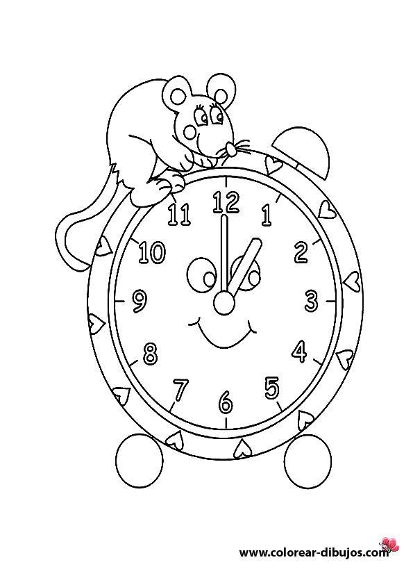 M s dibujos para imprimir y colorear relojes printable - Dibujos de relojes para imprimir ...