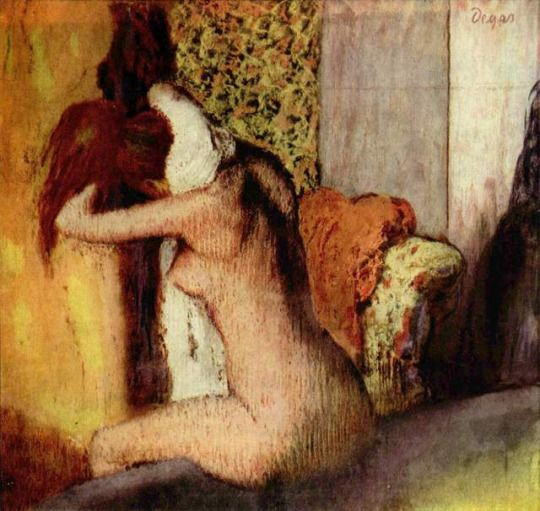 After the Bath, Woman Drying Her Nape by Edgar Degas