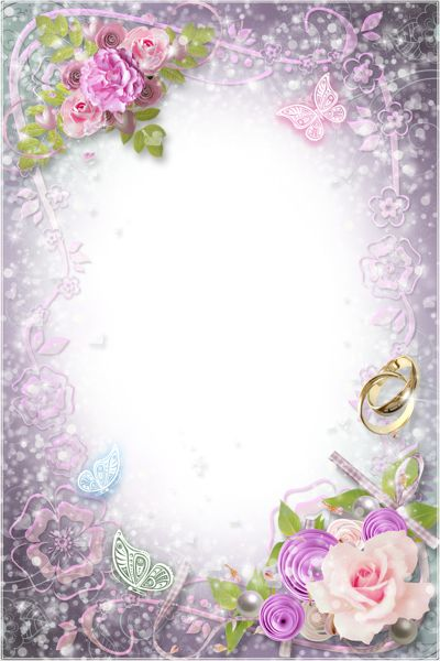 Transparent Flowers Wedding Frame