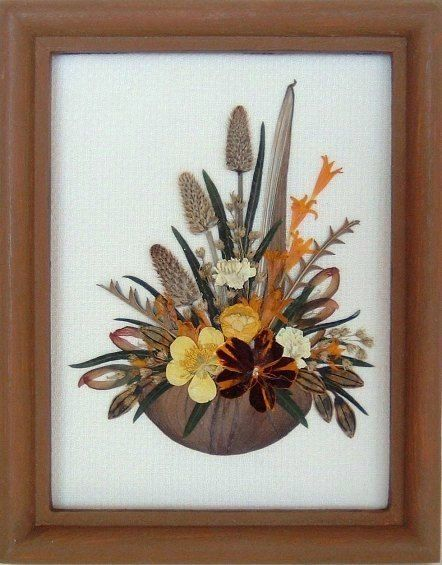 Framed Pressed Flowers / Oshibana. P/N 156 by PressedFlowersArt, $25.00