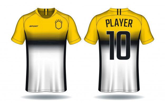 Download Soccer Jersey Template Sport T Shirt Design Premium Vector Sports Tshirt Designs Sports Jersey Design Soccer Jersey