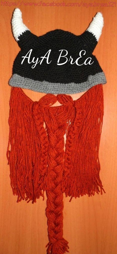 Viking örgü şapka
