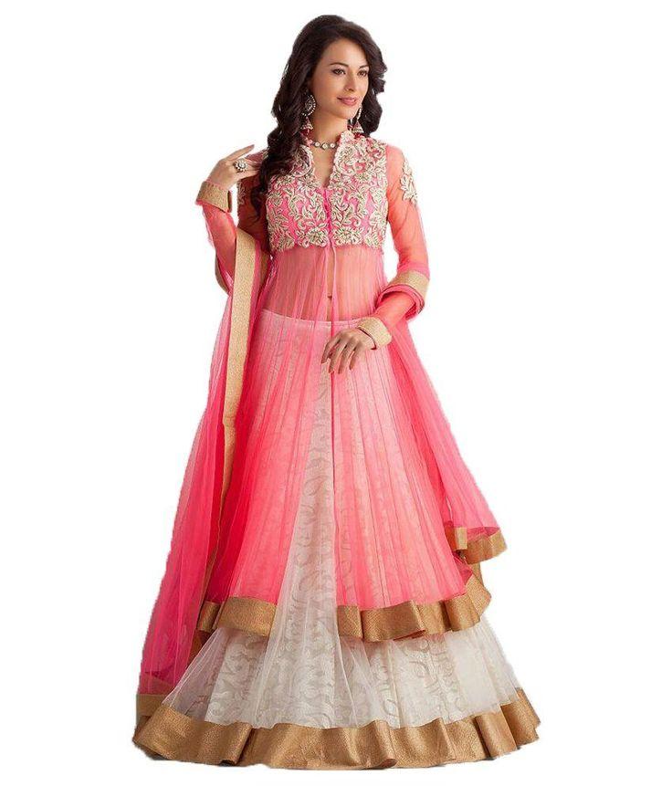 Buy Five Star Fashion Pink Net Lehenga