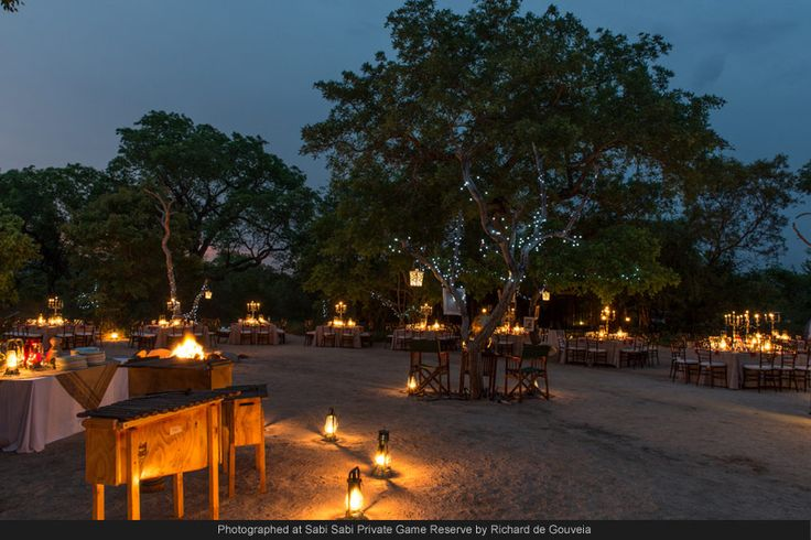 What an amazing surprise as the guests arrive to have an amazing bush dinner under the Africa sky