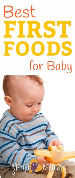 Iron-fortified rice cereal for baby's first food? No way! Here are the top five REAL and HEALTHY foods to start your baby on ;)