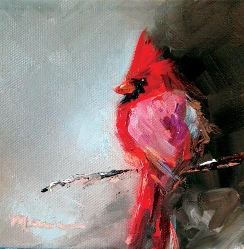 """Daily Paintworks - """"Red"""" - Original Fine Art for Sale - © Marcia Hodges"""