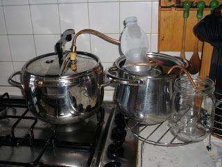 distillatore co pentola a pressione