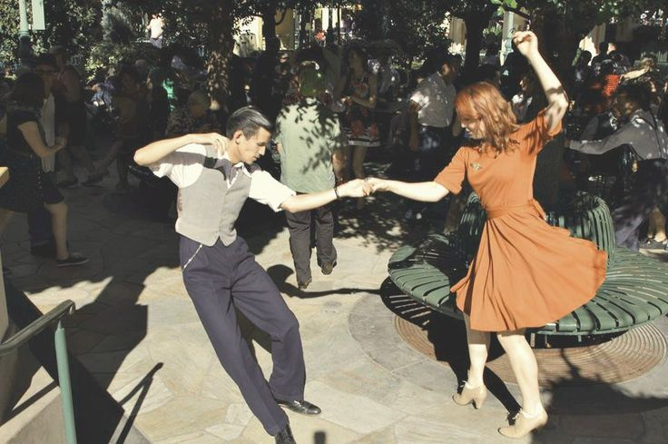 Swing Dancing. 1940's fashion, Vintage clothing