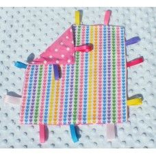 Colourful Hearts taggie blankie