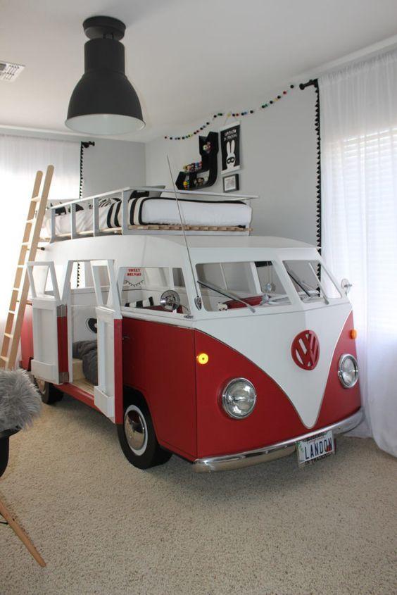 Big Boy Room with Custom Camper Bunk Bed - Project Nursery