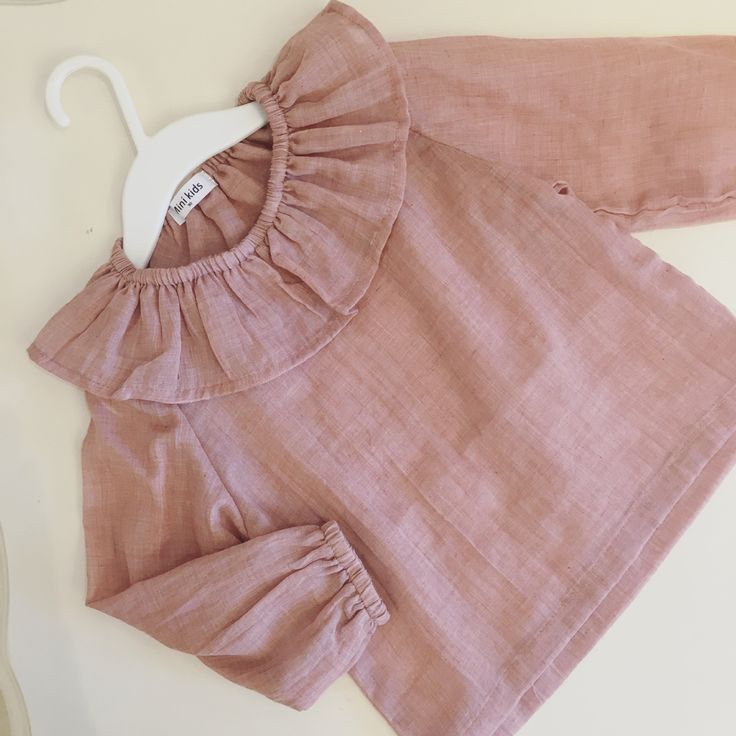 Baby Autumn Ruffle Neck Blouse