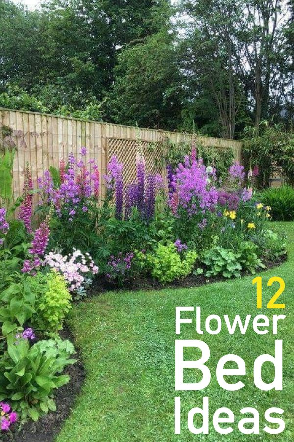 12 Gorgeous Flower Bed Ideas For Your Home | Backyard ... on Flower Bed Ideas Backyard id=52184