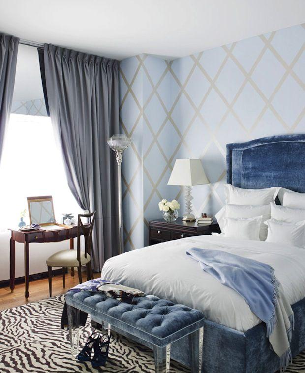 Голубая спальня, дизайн