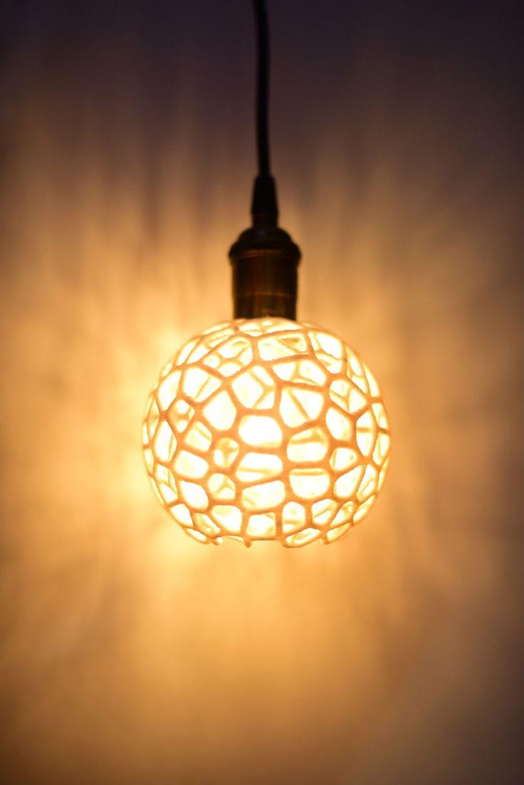 Ciondolo luce, plug-in, 3D stampata un'illuminazione industriale, lampada a sospensione, design geometrico poligono, vintage lampadina di Edison, illuminazione della cucina di Lumagon su Etsy https://www.etsy.com/it/listing/290332349/ciondolo-luce-plug-in-3d-stampata