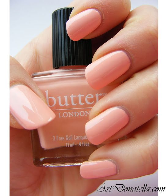 Sooo my new favorite!!! It's a beautiful peaches & cream KERFUFFLER (Butter London) This brand is really has great staying power & the colors are extremely rich LOVE THEM