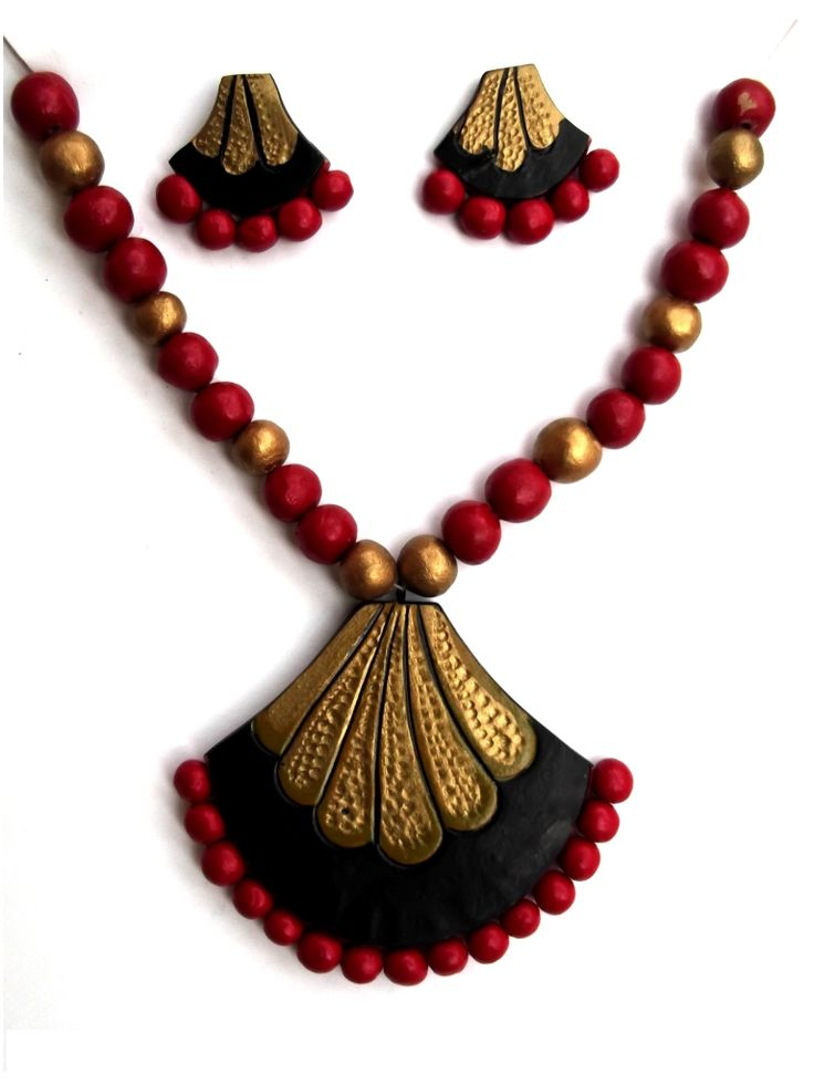 #Terracotta #NecklessSet #jewellery #craftshopsindia