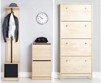 Компактная мебель для хранения обуви