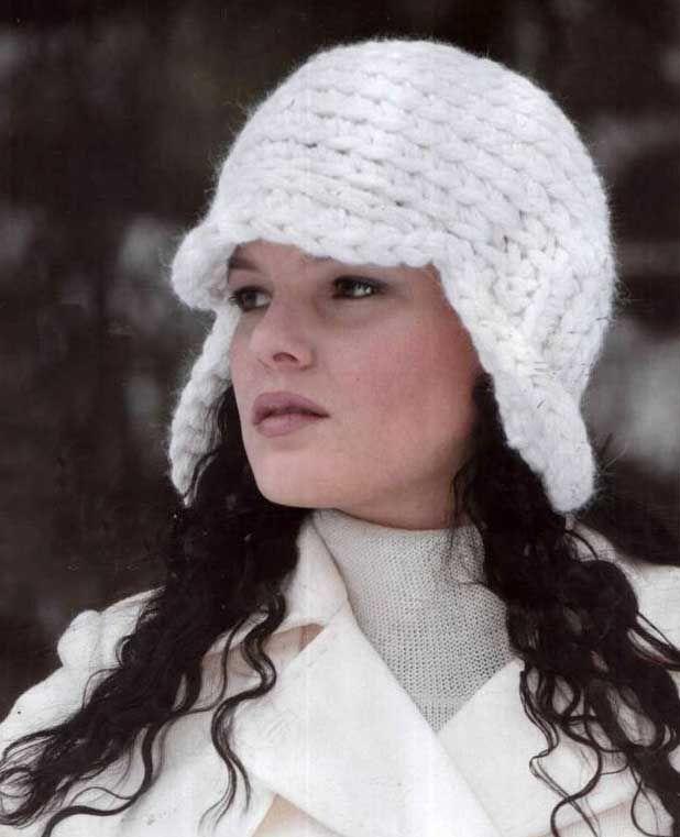 Вязаные женские шапки с ушками