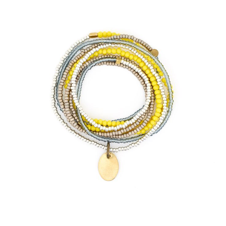The Makery Heartstring long beaded necklace – MHS24