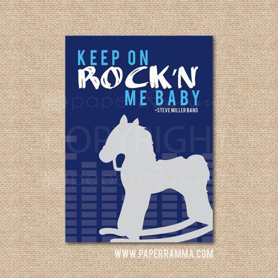 Rock'n Me Steve Miller Band // Music Art Print // by PaperRamma