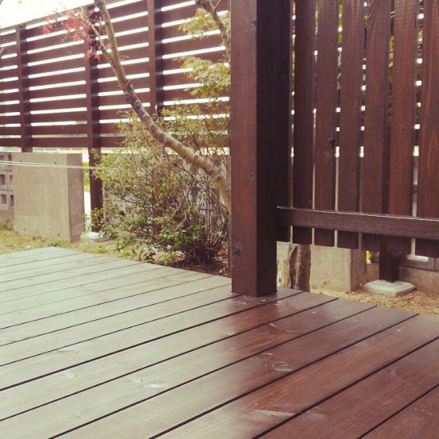 HopChikuwaさんの、もみじ,ウッドデッキ,庭,ウッドフェンス,DIY,玄関/入り口,のお部屋写真