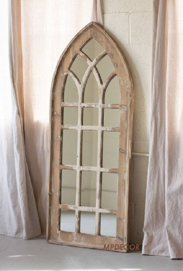Gothic Arch Mirror Cottage Chic Shabby Distressed Finish Victorian